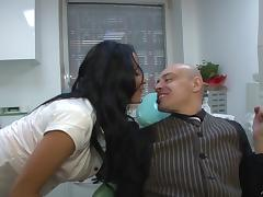 Anissa Kate wearing a corset gets her pussy drilled remarcably well
