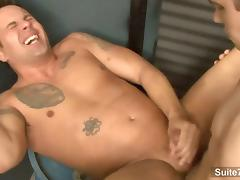 Finn Daniels and Jeremy Lange fuck in the garage