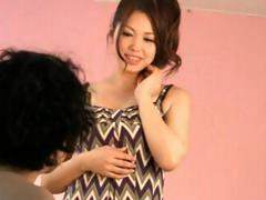 Cute Asian model gets taken by the photographer and drilled