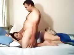 Mongolian Girl gets it from Brazilian guy Amateur Video