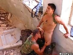 Military beefy fucks hardcore