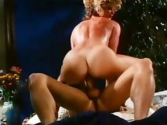 Ginger Lynn Allen, Tom Byron in young horny couple in a classic porn video