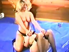Retro Stockings Wrestling