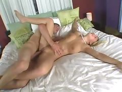 Blonde babe with gorgeous ass and pierced pussy getting pumped