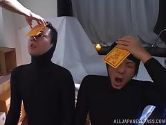 japanese cop masturbates furiously