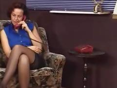 German MILF in stockings tricks her aerobics teacher to fuck