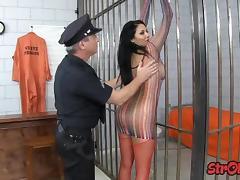 Prisoner slut trades handjob for release
