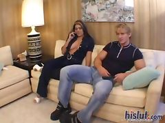 Olivia takes on that cock