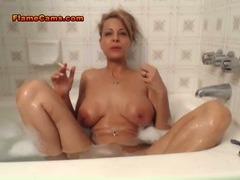 Big Tits MILF Smoking