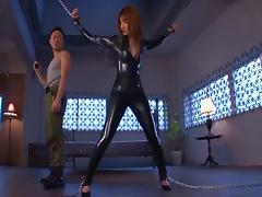 Pretty Japanese babe gets threatened by a gun before being boned in a missionary pose
