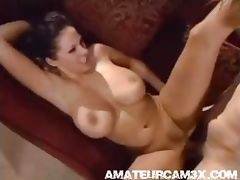 amazing girl with super boobs fucks