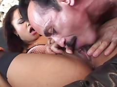 Tight bald cunt of Annie Cruz banged by a hard cock