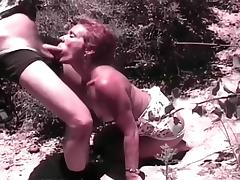 Hot Red Haired Granny Sucks Huge Cock