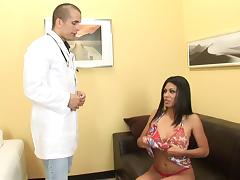 Luscious Latina Cassandra Cruz has her tight snatch hammered
