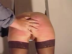 Sexy slavegirl caned