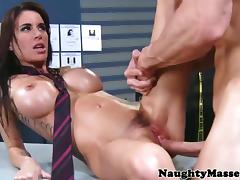 Busty detective creampied on office desk