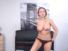 Kagney Linn Karter toying her twat while Porno Dan is fucking her ass