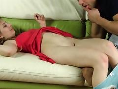 Cute cutie stretches wet vagina and gets deflorated