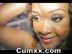 Sexy Wild Ebony Cutie Making Out
