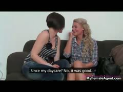 Blonde amateur girl gets seduced