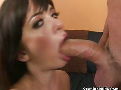 Young brunette has her nice ass pounded