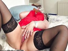 Horny busty old housewife showing