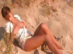 cute natasha teen naked on the beach