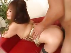 stockings and deep asian anal sex