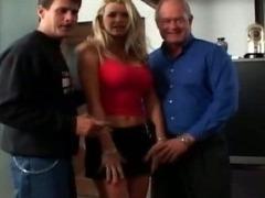 Super hot blonde MILF with big tits