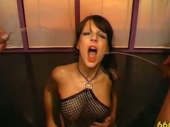 Watersports fetish slut blowjob fuck piss shower