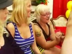 Stripper Jacks Off By 3 Girls