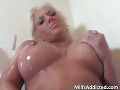 Wet busty blonde sucks big cock in the part3