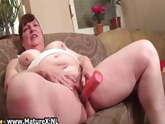 Busty horny housewife is pleasuring part6