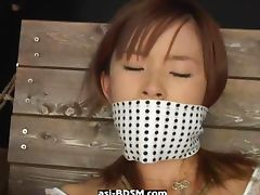 Masturbation and fisting asian bound girl