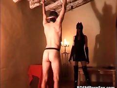 Horny kinky perverted chick spanks naked