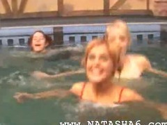 Three germanian teenies in the pool