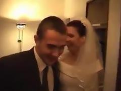 Brunette bride fucked