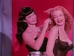 Bettie Page and Tempest Storm 1950