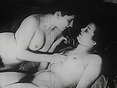 Two Naked Chicks Pleasing Each Other 1930