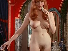 Busty Redhead Girl's Hairy Cunt Fucked in Bed 1960