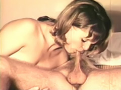 Naughty Couple Playing on the Bed 1970