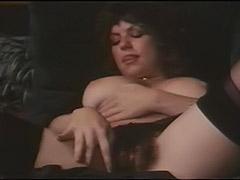 Hairy Busty Girl Masturbates to Orgasm 1970