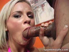 Bree Olson sucks big black Cocks