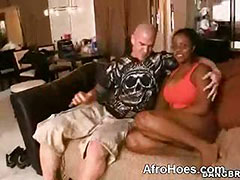 Black Busty Slut Exposed Outdoor With White Guy