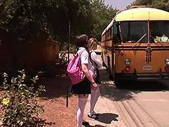 Faye Reagan bus stop girls