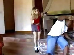 Blonde Mature Takes on Bick Black Dick