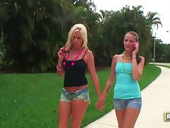 Eden Adams and Hailey Young Play with Alexia