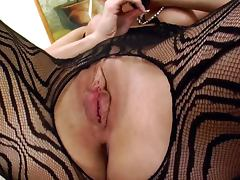 Lustful Blonde Cindy Dollar In Lingerie Toying Her Cunt With a Dildo