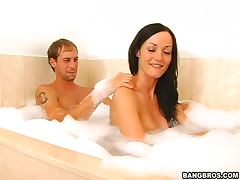Hot Soapy Sex With The Hot Brunette Melissa Lauren
