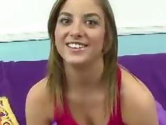 Sexy brunette Katie King POV blowjob